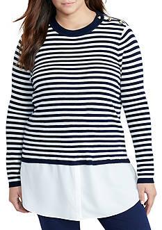 Lauren Ralph Lauren Plus Size Layered Wool Sweater