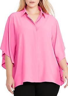 Lauren Ralph Lauren Plus Size Nimolino Short Sleeve Shirt
