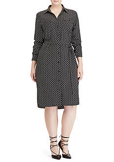 Lauren Ralph Lauren Plus Size Jenilee Long Sleeve Casual Dress