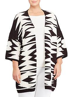 Lauren Ralph Lauren Plus Size Cotton-Linen Cardigan