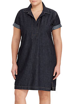Lauren Ralph Lauren Plus Size Denim Shift Dress