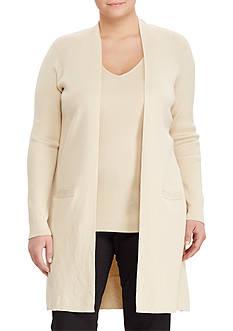 Lauren Ralph Lauren Plus Size Elongated Cardigan