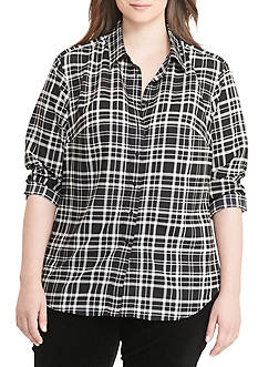 Lauren Ralph Lauren Foulard-Print Crepe Shirt