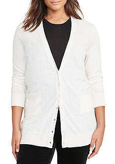 Lauren Ralph Lauren Stretch Cotton Cardigan