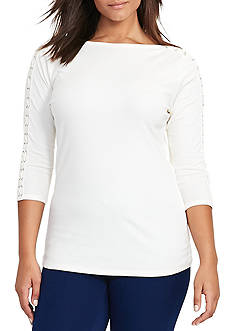 Lauren Ralph Lauren Plus Size Duragi Knit Top
