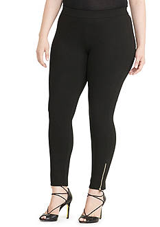 Lauren Ralph Lauren Paneled Ponte Leggings