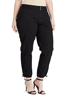 Lauren Ralph Lauren Plus Size Cotton Cargo Pant