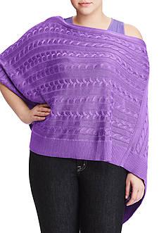 Lauren Ralph Lauren Plus Size Cable-Knit Poncho