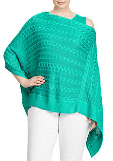 Lauren Ralph Lauren Plus Size Cable-Knit Poncho