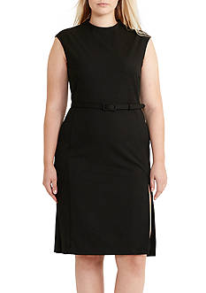 Lauren Ralph Lauren Plus Size Mock Neck Sheath Dress
