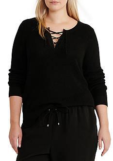 Lauren Ralph Lauren Plus Size Adyasa Long Sleeve Sweater