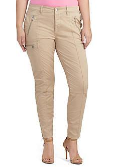 Lauren Ralph Lauren Plus Size Skinny Twill Cargo Pant