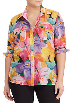 Lauren Ralph Lauren Plus Size Courtenay Long Sleeve Shirt