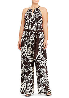 Lauren Ralph Lauren Plus Size Jersey Wide-Leg Jumpsuit