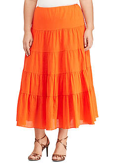 Lauren Ralph Lauren Plus Size Cotton Gauze Maxi Skirt