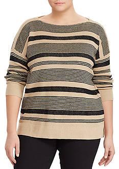Lauren Ralph Lauren Striped Linen-Cotton Sweater