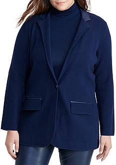 Lauren Ralph Lauren Plus Size Single-Button Sweater Jacket