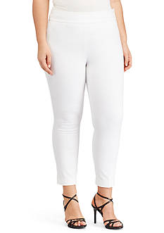 Lauren Ralph Lauren Plus Size Stretch Twill Skinny Pant