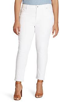Lauren Ralph Lauren Plus Size Premier Skinny Ankle Jean