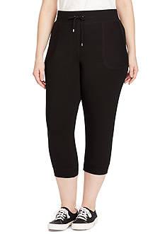 Lauren Ralph Lauren Plus Size Cropped Skinny Sweatpants