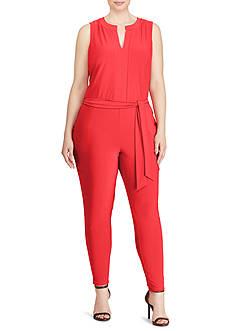 Lauren Ralph Lauren Plus Size Stretch Jersey Jumpsuit