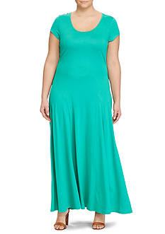 Lauren Ralph Lauren Plus Size Jersey Scoop Neck Maxidress