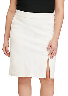 Lauren Ralph Lauren Plus Size Denim Pencil Skirt