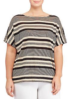 Lauren Ralph Lauren Plus Size Striped Linen Top