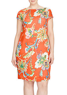 Lauren Ralph Lauren Plus Size Floral Shift Dress