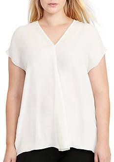 Lauren Ralph Lauren Plus Size Georgette Short-Sleeve Top