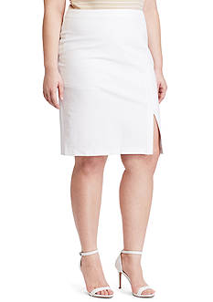 Lauren Ralph Lauren Plus Size Side-Slit Pencil Skirt