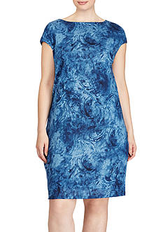 Lauren Ralph Lauren Plus Size Linen Jersey Shift Dress