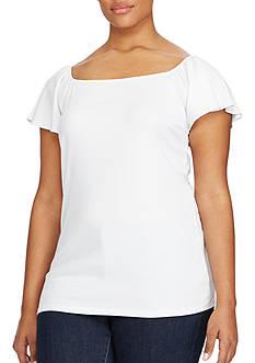 Lauren Ralph Lauren Plus Size Jersey Off-the-Shoulder Top