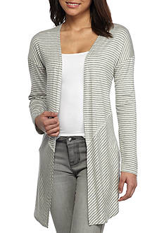 H.I.P Long Sleeved Striped Open Cardigan