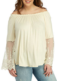 H.I.P Plus Size Off The Shoulder Top