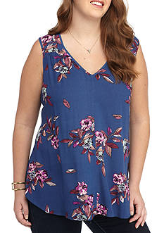 H.I.P Plus Size Floral Layering Tank