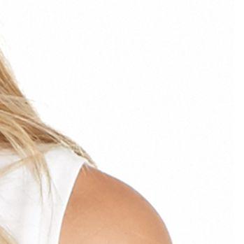 Black Blouse: White MICHAEL Michael Kors Mixed Media Sleeveless Top