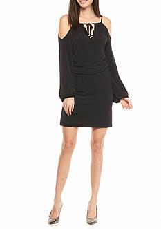 MICHAEL Michael Kors Cold Shoulder Knit Dress