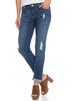 MICHAEL Michael Kors Distressed Roll Cuff Ankle Jeans