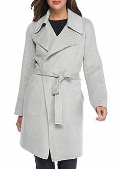 MICHAEL Michael Kors Belted Cocoon Coat