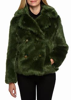 MICHAEL Michael Kors Faux Fur Peacoat