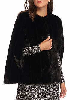 MICHAEL Michael Kors Reversible Faux Fur/Puffer Poncho