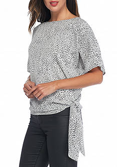 MICHAEL Michael Kors Graphic Scale Side Tie Top