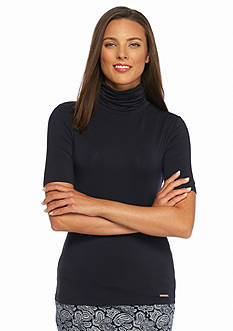 MICHAEL Michael Kors Short Sleeve Turtleneck Top