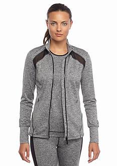 MICHAEL Michael Kors Mesh Knit Zip Jacket