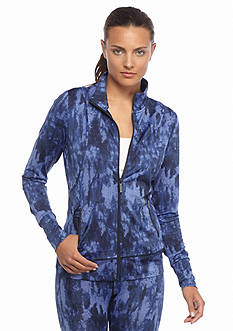 MICHAEL Michael Kors Tie Dye Twill Print Zip Jacket