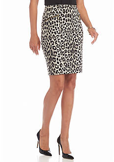 MICHAEL Michael Kors Cheetah Print Pencil Skirt