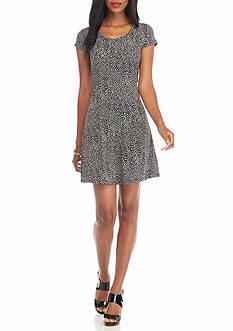 MICHAEL Michael Kors Graphic Scale Print Dress