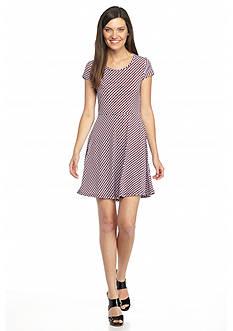 MICHAEL Michael Kors Printed Cap Sleeve Dress