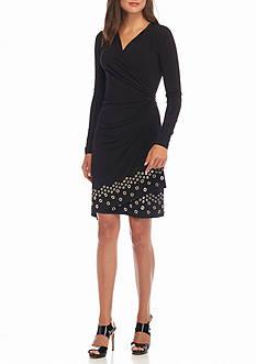 MICHAEL Michael Kors Grommet Hem Wrap Dress